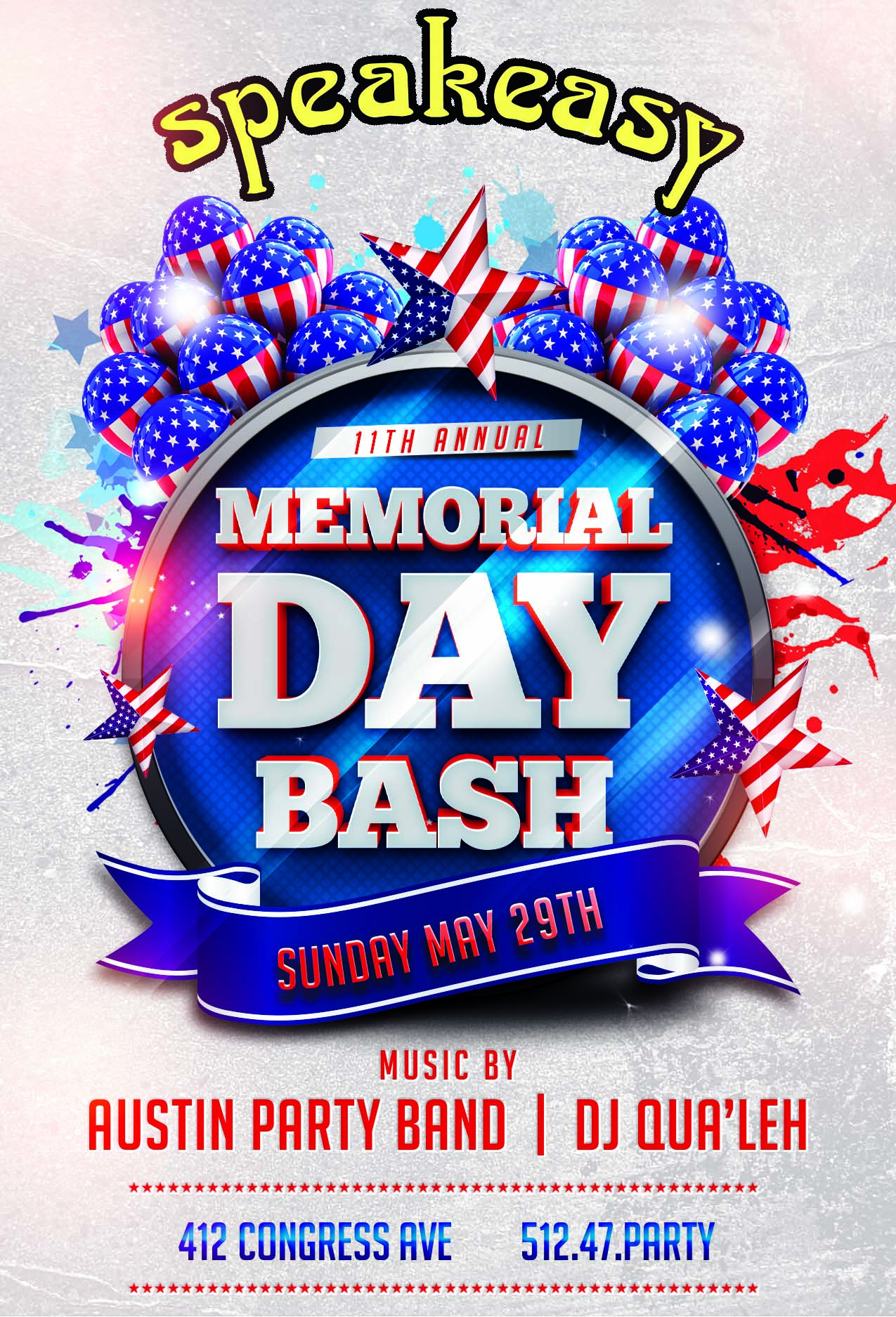 Memorial Day Bash Flyer